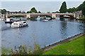 TQ1568 : Hampton Court Bridge, River Thames by Alan Hunt