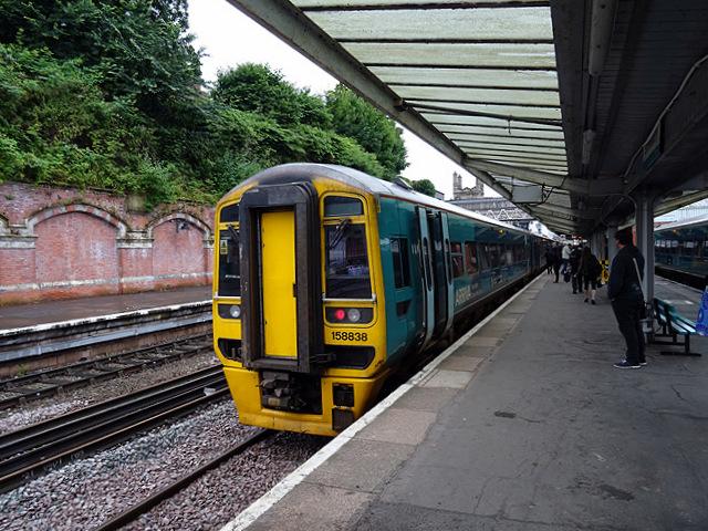 Cambrian unit 158838 at Shrewsbury