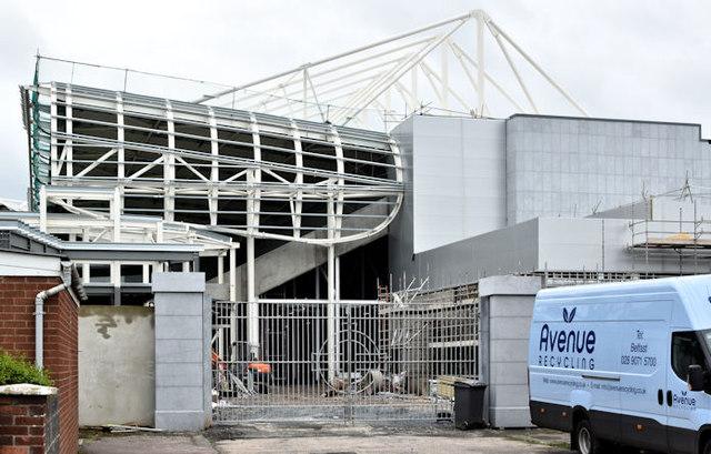 New West Stand, Windsor Park, Belfast (July 2016)