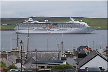 HU4841 : Cruise ship Crystal Symphony in Lerwick harbour by Mike Pennington