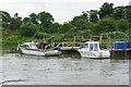 TQ0206 : Moorings, River Arun by Alan Hunt
