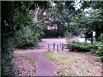 SZ0795 : East Howe: footpath E56 reaches Kinson Road by Chris Downer