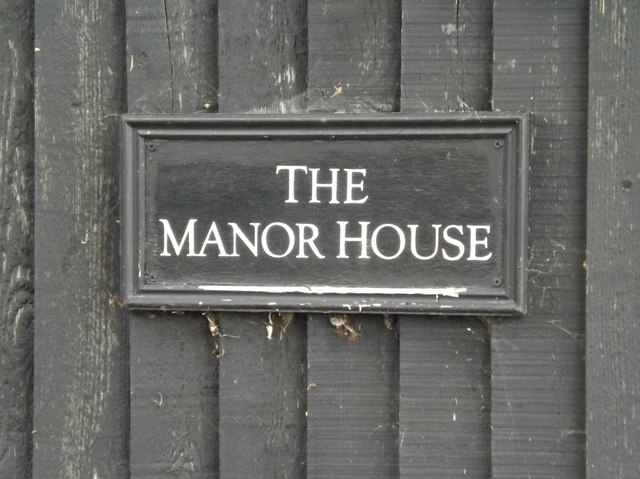 The Manor House sign