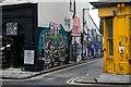 TQ3482 : Street art, Grimsby Street by Julian Osley