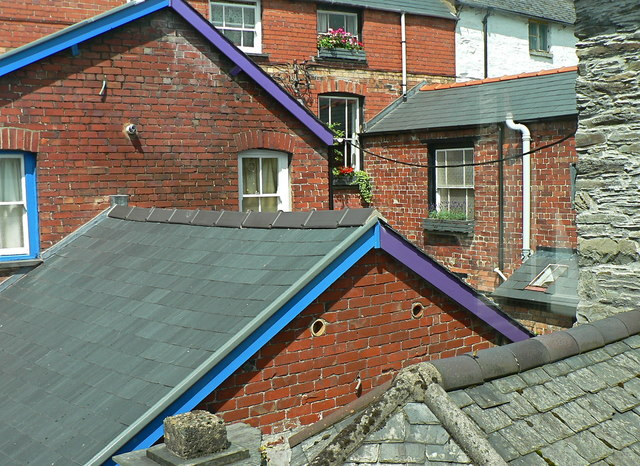 Interesting roof shapes in Machynlleth