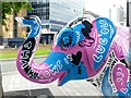 SK3586 : Herd of Sheffield: Lingo the Elephant by Graham Hogg