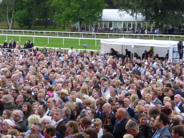 A sea of faces at Newmarket