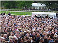 TL6161 : A sea of faces at Newmarket by Richard Humphrey
