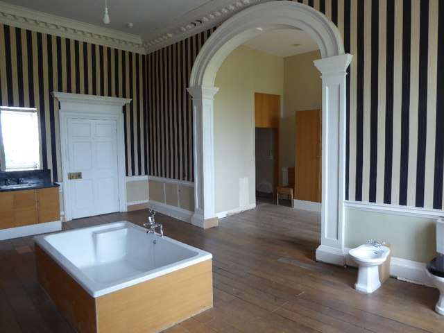 A modern bath in Croome Court © Philip Halling :: Geograph Britain and  Ireland