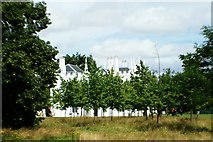 TQ1572 : View of trees in the grounds of Strawberry Hill House by Robert Lamb