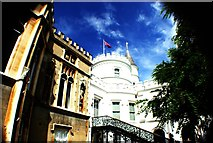 TQ1572 : Looking up at Strawberry Hill House from the grounds #2 by Robert Lamb