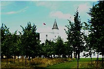 TQ1572 : View of Strawberry Hill House from the grounds #8 by Robert Lamb