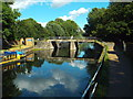TQ3586 : Bridge over the River Lea Navigation near Clapton by Malc McDonald