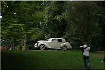 TQ1773 : View of a 1951 Bentley Mark 6 parked up for a wedding at Orleans House by Robert Lamb