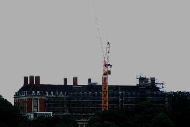 View of the Royal Star and Garter Home from the Thames Path by Marble Hill Park #2