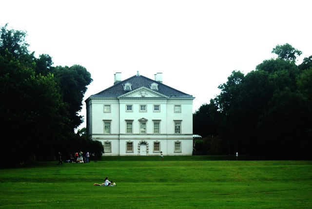 View of Marble Hill House from the Thames Path