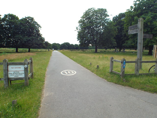 Cycle route through Richmond Park