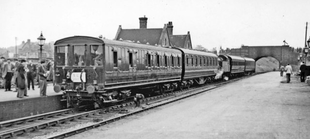 Aldridge station, with Society Special train, 1951