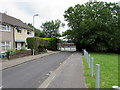 ST3589 : Jellicoe Close school entrance gates, Ringland, Newport by Jaggery