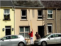 H4573 : Painters at work, Omagh by Kenneth  Allen
