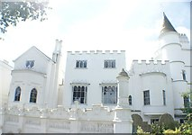 TQ1572 : View of Strawberry Hill House from the grounds by Robert Lamb
