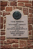 NS4927 : Plaque in Castle Street, Mauchline by Billy McCrorie