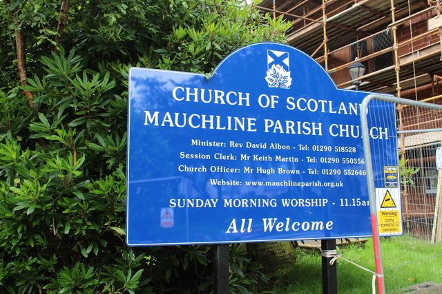 Mauchline Parish Church Sign