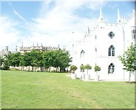 TQ1572 : View of Strawberry Hill House from the grounds #5 by Robert Lamb