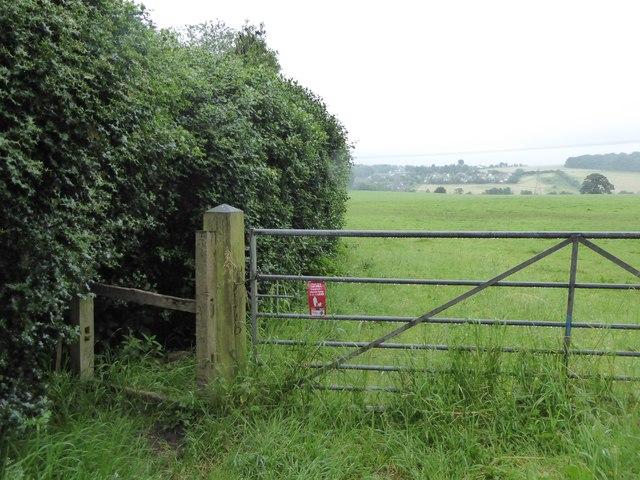 Butterton: public footpath to Seabridge