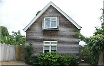 TQ1673 : View of a weatherboarded house on Riverside by Robert Lamb