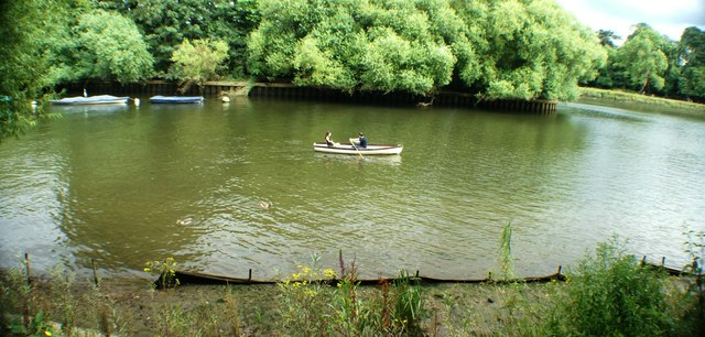 View of a canoe on the Thames at Marble Hill Park #2