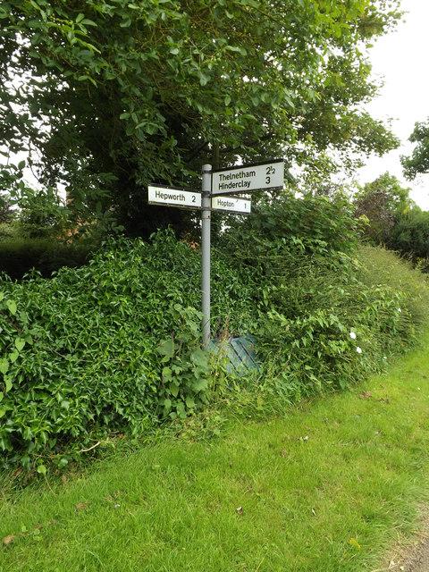 Roadsign on Hepworth Road