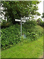 TL9877 : Roadsign on Hepworth Road by Adrian Cable