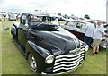 TQ5583 : View of a 1949 Chevrolet pick-up truck at Havering Mind's Wings and Wheels event at Damyns Hall Aerodrome by Robert Lamb