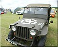 TQ5583 : View of a Willys US Army truck in Havering Mind's Wings and Wheels event at Damyns Hall Aerodrome by Robert Lamb