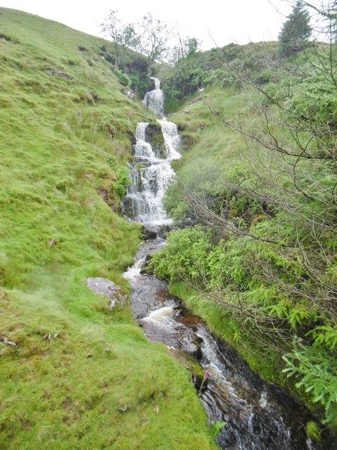 Pant Brwynog, waterfall