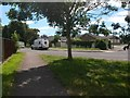 SZ1095 : Muscliff: crossing Ashurst Road on footpath K24 by Chris Downer