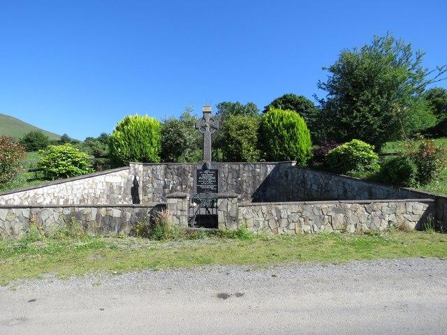 Roadside monument dedicated to Liam Lynch