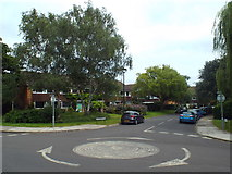 TQ1672 : Mini-roundabout in Ham, near Richmond by Malc McDonald