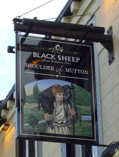 Sign for the Shoulder of Mutton, Mytholmroyd