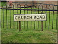 TL9877 : Church Road sign by Adrian Cable