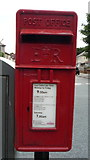 SD8632 : Close up, Elizabeth II postbox on Brunshaw Road, Pike Hill. Burnley by JThomas