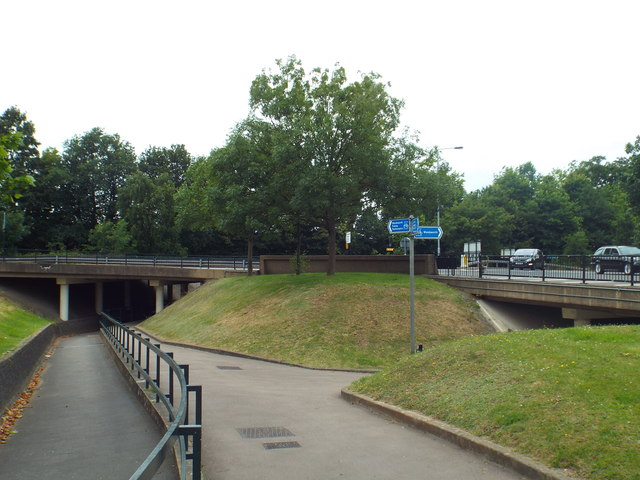 Path and bridleway, Tibbett's Corner, near Putney Heath