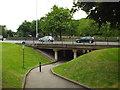 TQ2373 : Shared path at Tibbett's Corner by Malc McDonald