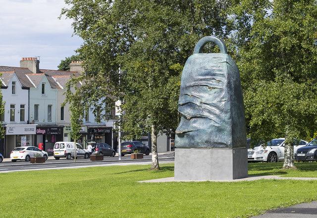 The 'Bangor Bell' sculpture, Bangor