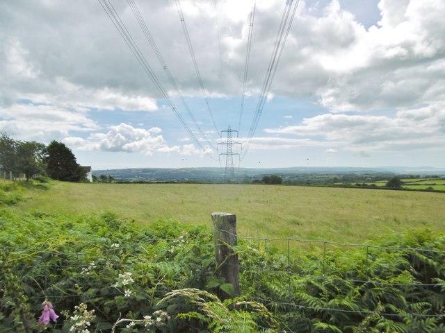 Rhyd-y-gwin, power lines