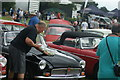 TQ5583 : View of an MG B in Havering Mind's Wings and Wheels event at Damyns Hall Aerodrome #9 by Robert Lamb