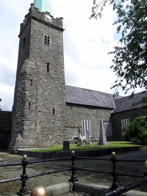 The tower of St Nicholas CoI Church, Dundalk