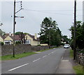 ST4769 : Wires over Station Road, Nailsea by Jaggery