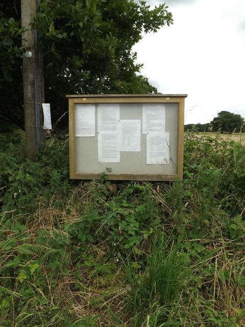 Hopton Village Notice Board